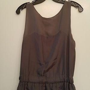 Banana Republic Dresses - Banana Republic gray sleeveless silk dress